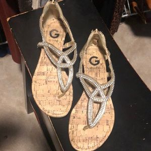 G by Guess studded sandals size 7